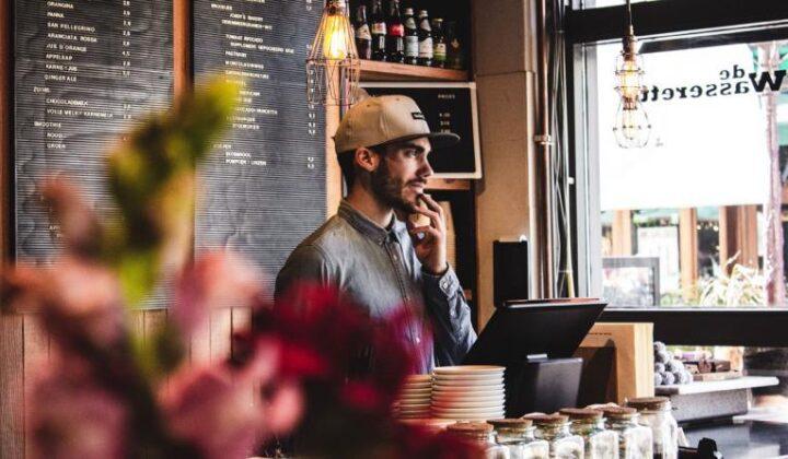 Man in Cafe