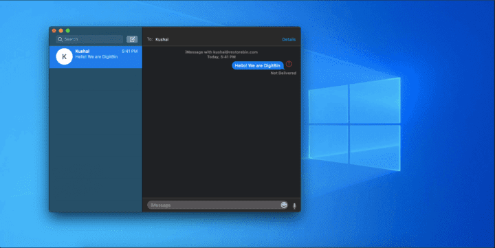 iMessages on Windows 10?