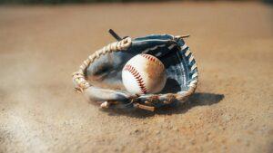 dusty baseball glove