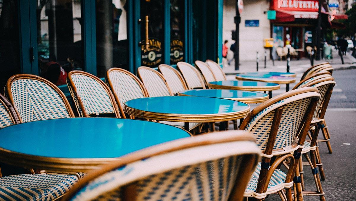 outdoor café on sidewalk