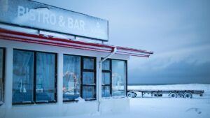 cold winter near iceland bistro