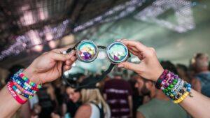 prism goggles at concert
